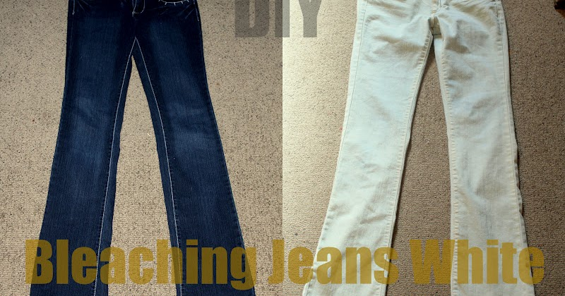 Keeping Up With Us Jones Bleaching Jeans