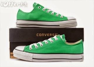 Sepatu Converse Classic hijau murah,