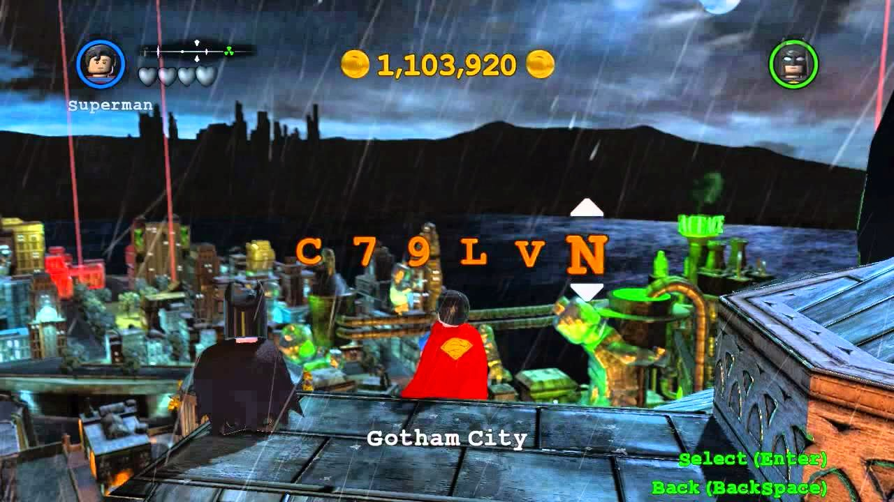 cheat lego batman ps2