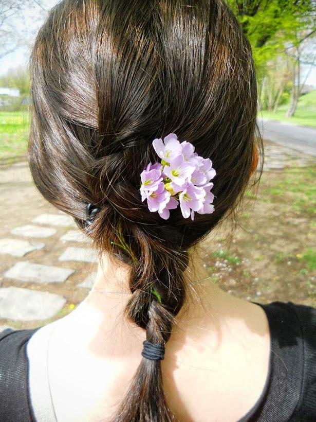 Flowers in my hair in Lausanne, Switzerland