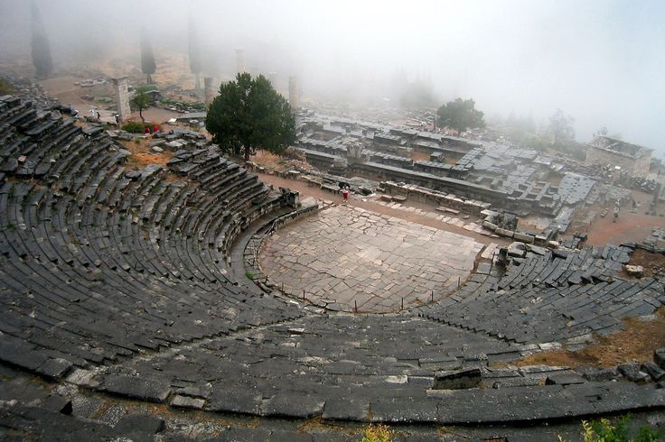 Delphi Theatre, Greece, A Historical Place In Greece