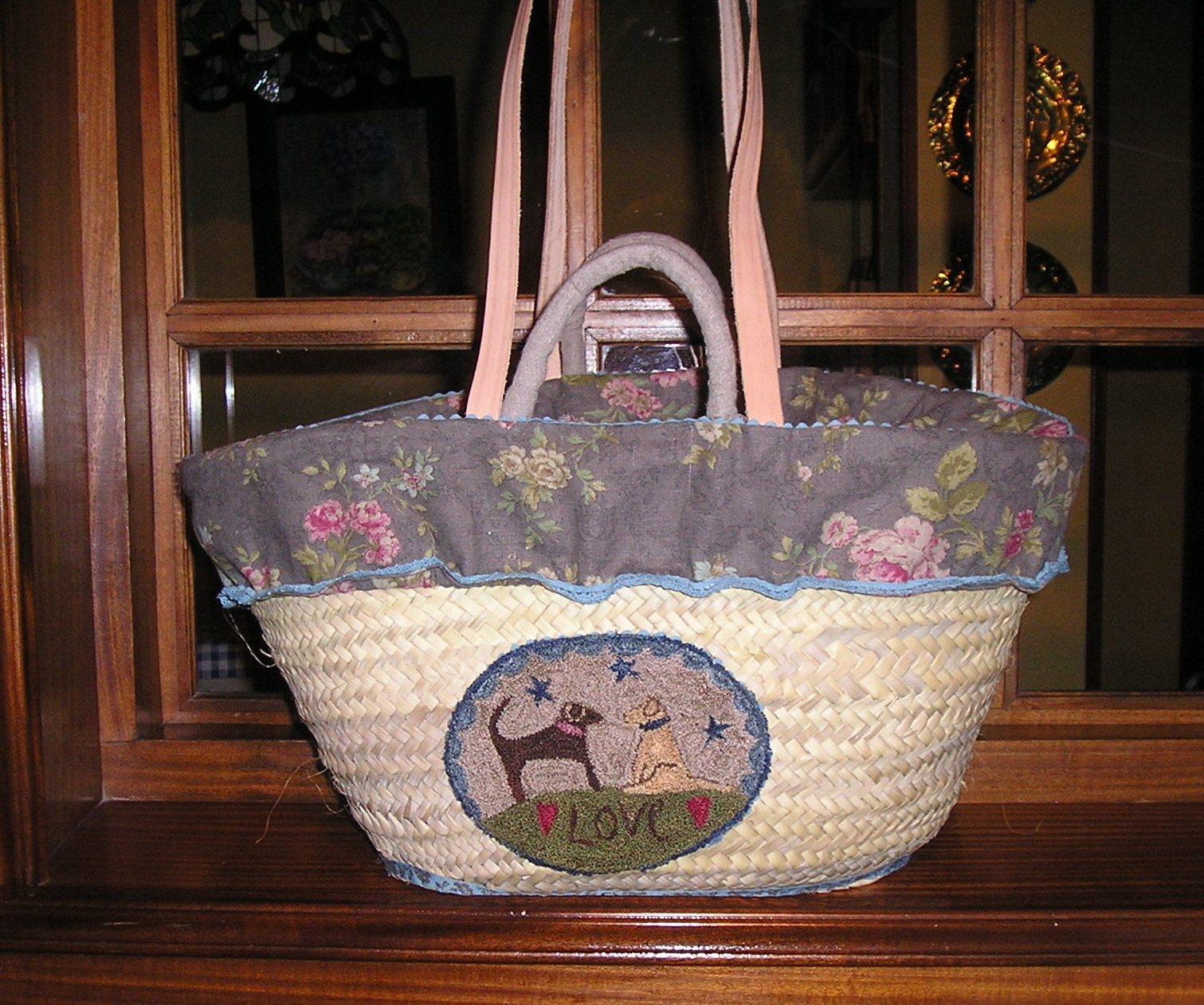 Como decorar una cesta de mimbre imagui - Como forrar una cesta de mimbre ...