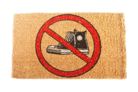 Play fair have fun the first impression for the visitors of your home - No shoes doormat ...
