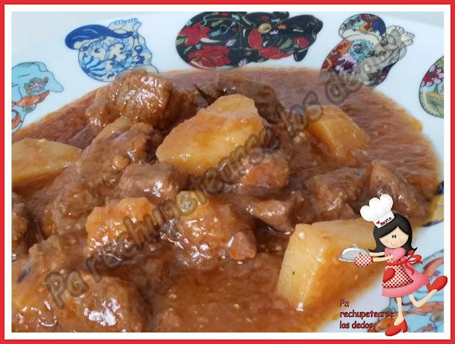 * Guiso de ternera con patatas (Olla GM-E)