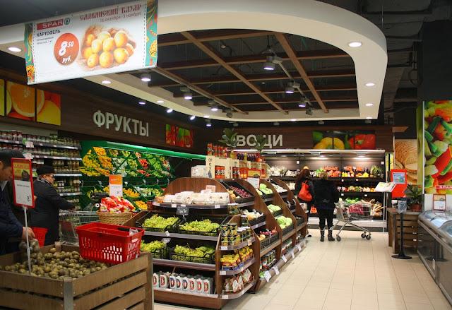 Дизайн магазина продуктов SPAR, ТЦ,дизайн студия Dulisov design