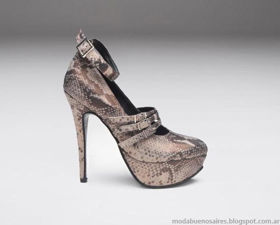 Zapatos animal print invierno 2013