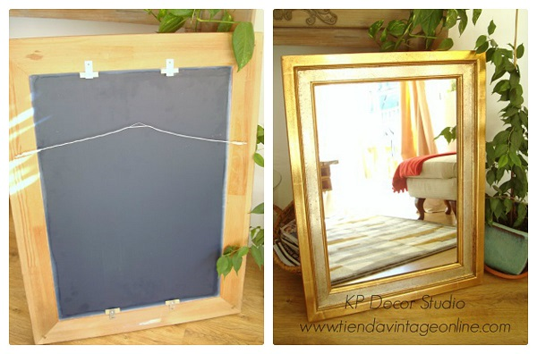 Comprar espejo artesanal estilo antiguo en madera