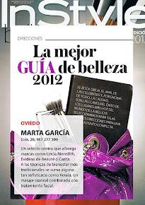 InStyle añade a Marta Garcia a la guía de belleza 2012, como uno de los mejores centros de España
