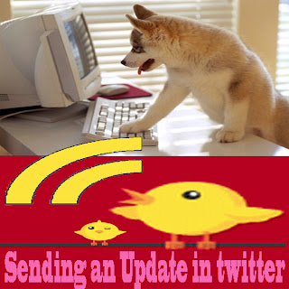 Sending an Update in twitter,twitter tips,twitter tips and tricks,fb tips,facebook tips,facebook tips and tricks,digg tips