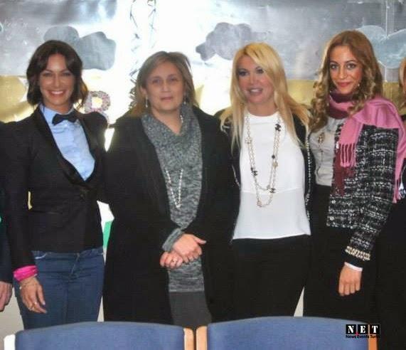 la piu importante vocal coach italiana Loretta Marrtinez, la giornalista Barbara Castellani e Miss eleganza per Miss Italia