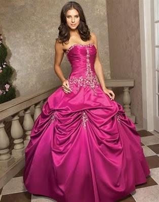 Wedding Pictures Pink Wedding Dresses