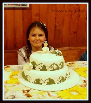 la torta per la prima comunione di asia