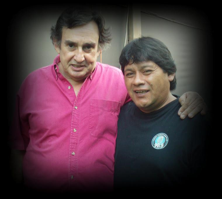 Con Gonzalo Robles