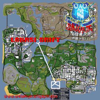 Lokasi Mod GTA Mod Map Tokyo Drift (Arena Lintasan Drift) v1.0