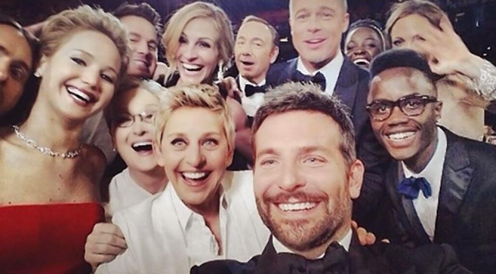 Selfie de Bradley Cooper Oscar 2014.