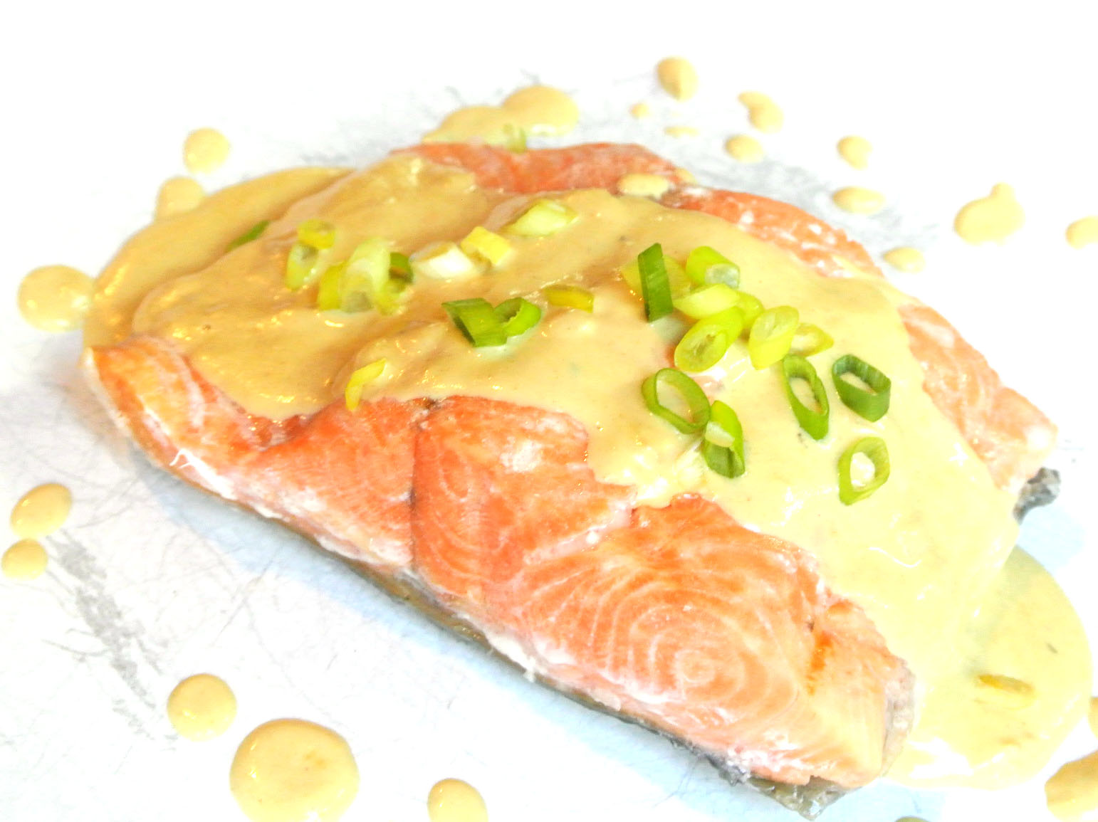 Gourmet Cooking For Two: Poached Salmon with Mustard Sauce