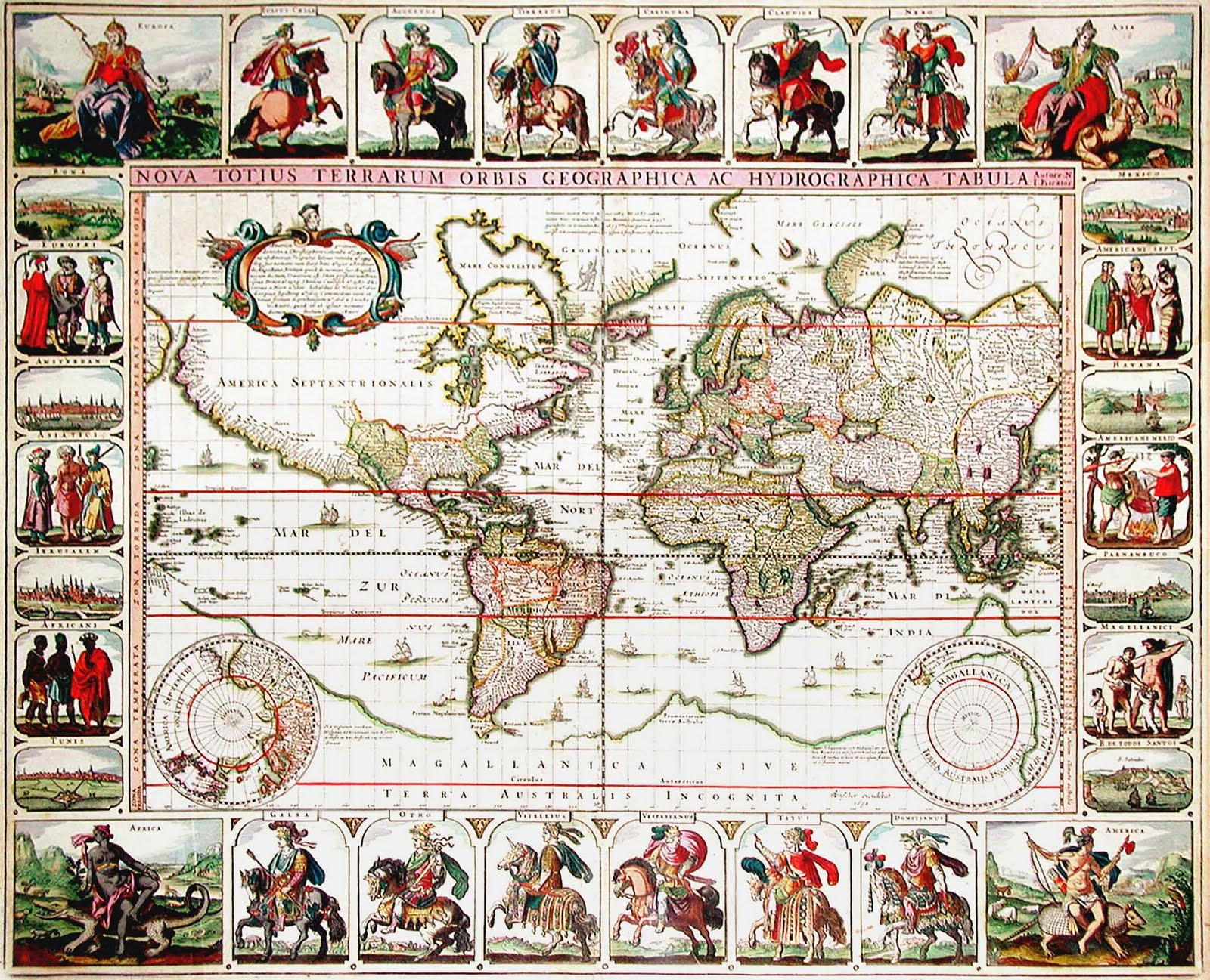 Graham arader rare world map of the day nova totius terrarum a stunning and extremely rare world map by a seminal dutch mapmaker gumiabroncs Choice Image