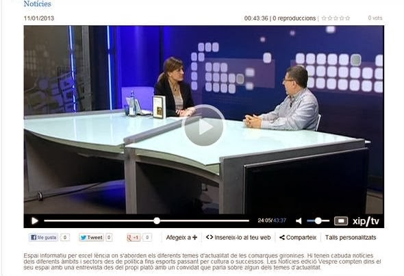 "ENTREVISTA TV GIRONA SOBRE ""AMOR A LA CARTA"""