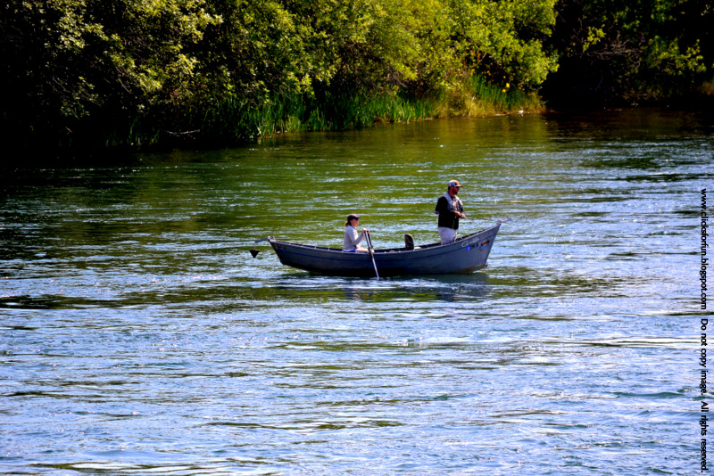 Fishing Boating Sacramento River Redding California