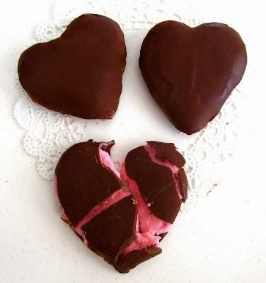 valentine raspberry cream patties