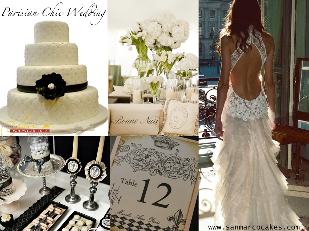 San Marco Cakes Inspired By Parisian Chic Weddings San Marco