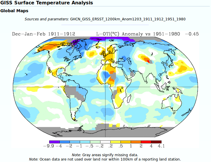 Thought Fragments Cold Winter In United States Global - Average winter temperature us map