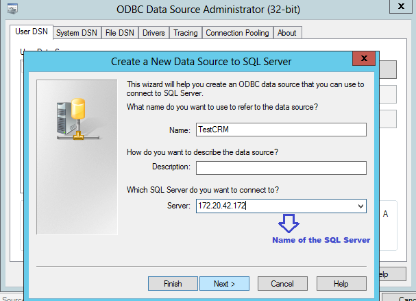 how to create dsn in windows 7 for sql server
