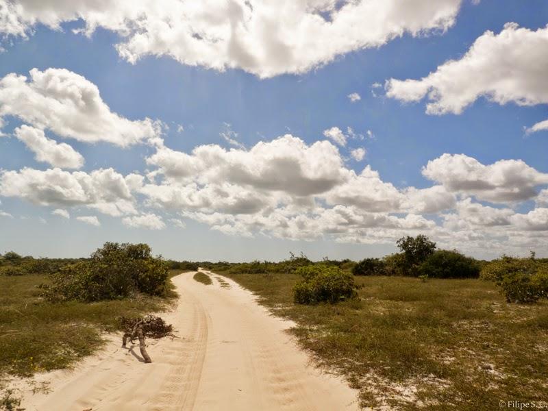 Foto de trecho para a Lagoa Azul