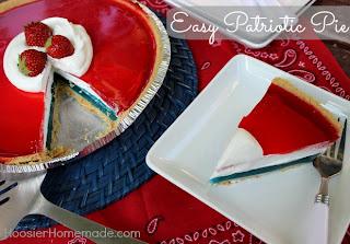Easy Patriotic Pie by Hoosier Homemade.