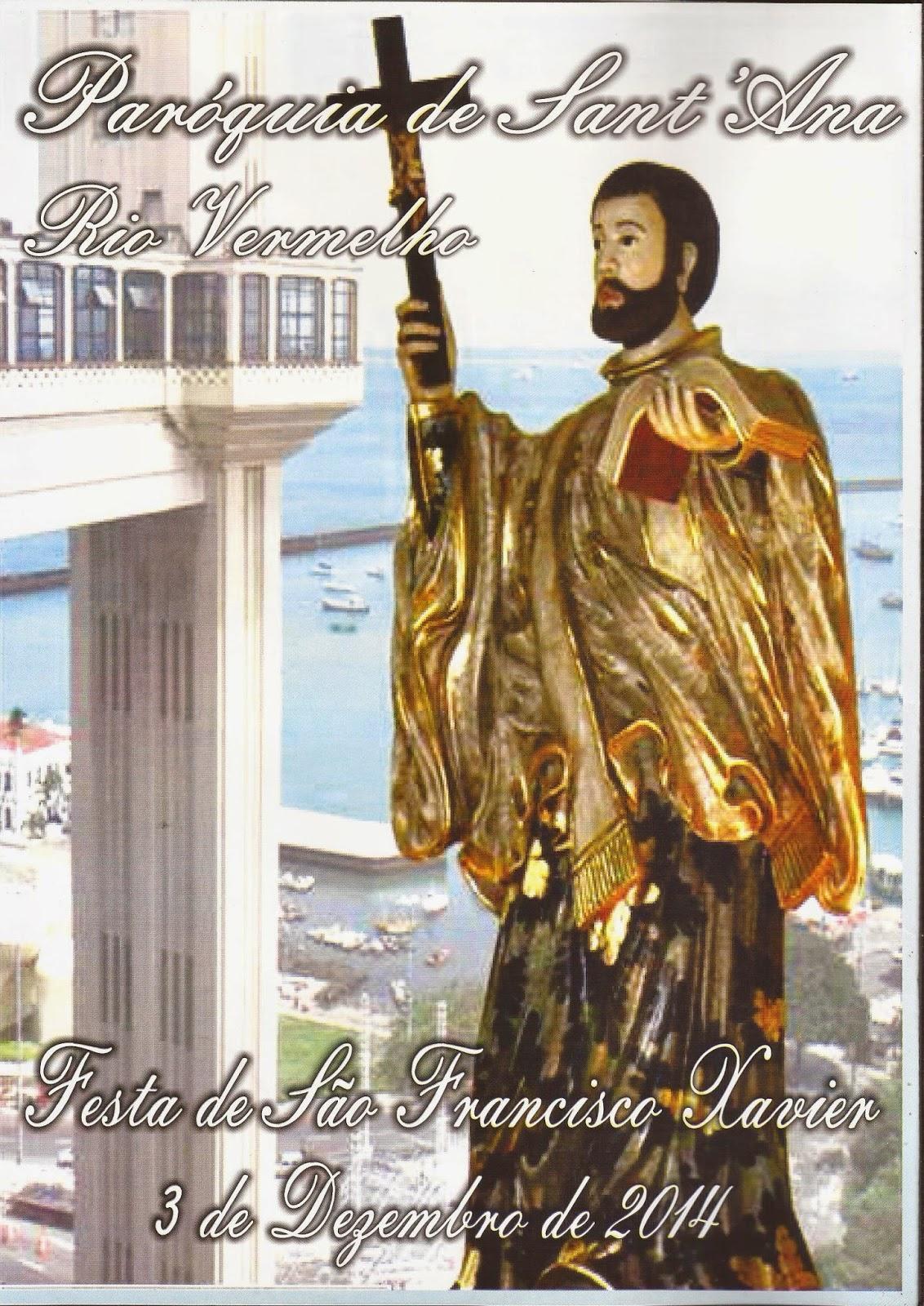 No próximo domingo tem missa e procissão em louvor a São Francisco Xavier