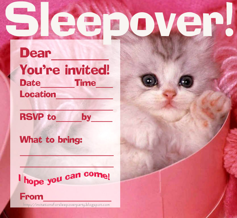 Amazing image pertaining to free printable sleepover invitations