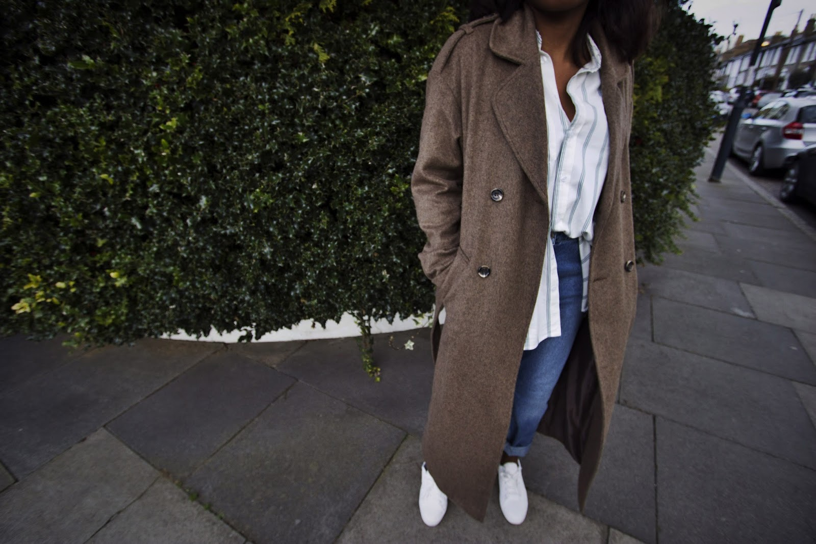Long Belted Over Sized Wool Coat