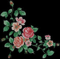 Rose Branch pattern preview. Free cross-stitch patterns
