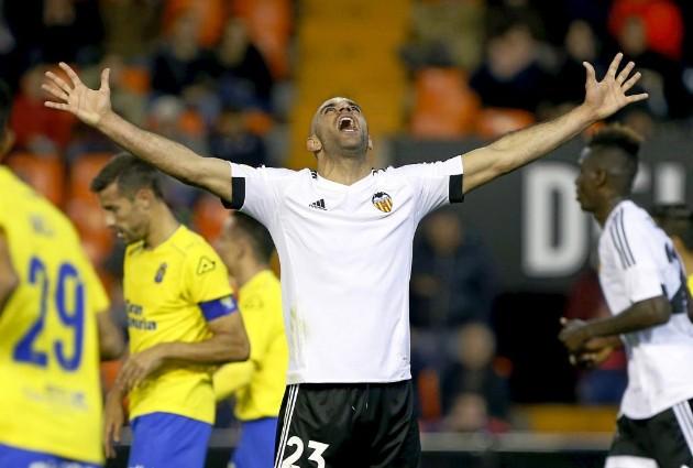 vídeo de los goles Valencia 1 Las Palma 1, Copa del Rey