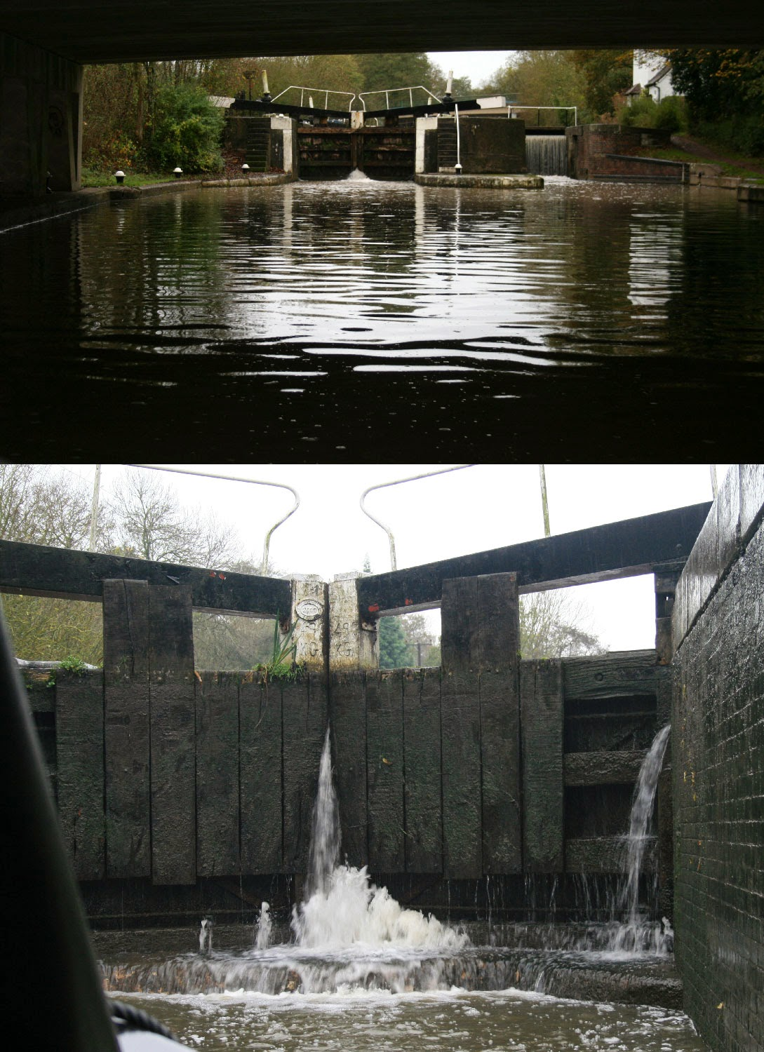 The first lock, and while we were in it