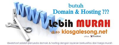 Domain & Hosting Lebih Murah di Kiosgalesong.net