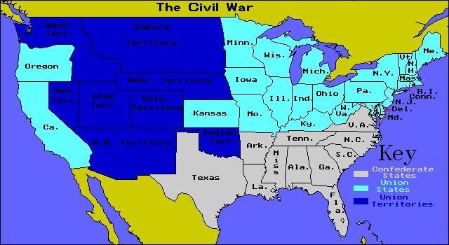 Map usa before civil war
