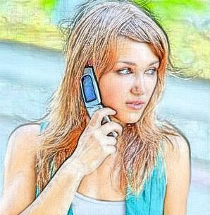 Girl on a phone call