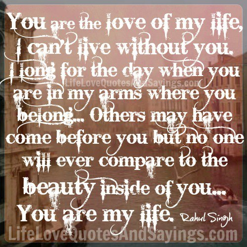 You Are The Love Of My Life Quotes Awesome Lost The Love Of My Life Quotes