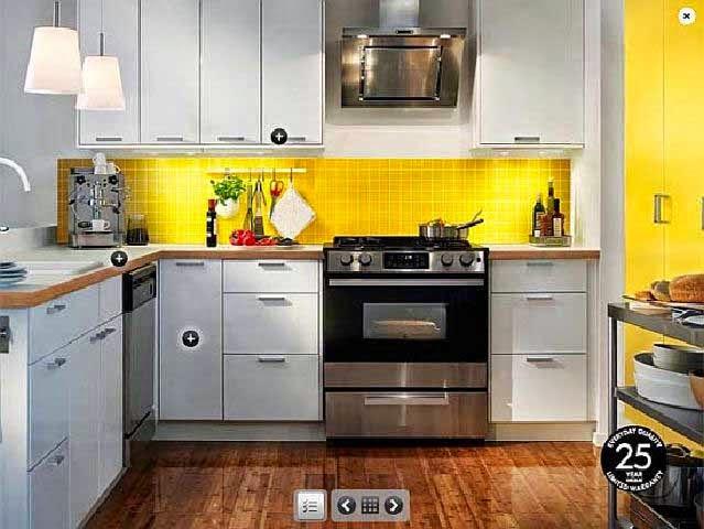 Dapur kuning desain dengan ide briliant, kitchen set, dapur mewah