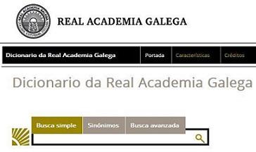 DICCIONARIO REAL ACADEMIA GALEGA