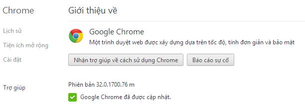 Tải về Google Chrome 32.0.1700.76 Full cài đặt Offline