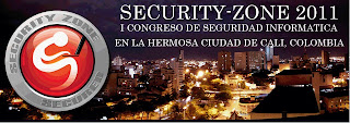 Congreso de Seguridad Informtica &#8216;Security Zone&#8217; en Cali Colombia.