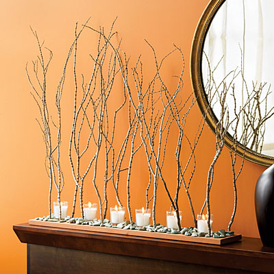 ashbee design hurricane twigs become thanksgiving centerpiece