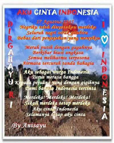 aku indonesia Cinta itu rela jika kita cinta indonesia kita harus rela berkorban demi kepentingan indonesia aku cinta indonesia.