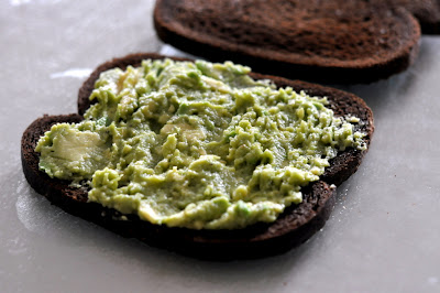 Avocado Smear on Toasted Pumpernickel Bread - Photo by Taste As You Go