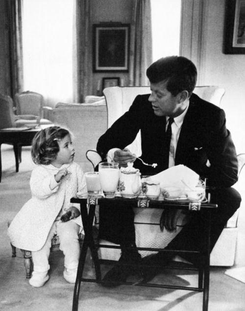 Caroline poured for Daddy