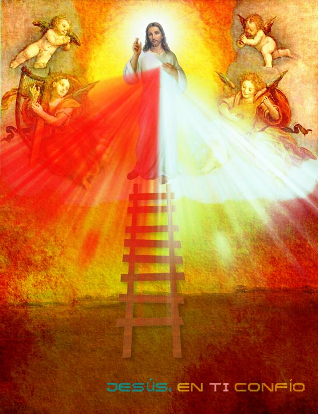 escalera asia jesus misericordioso