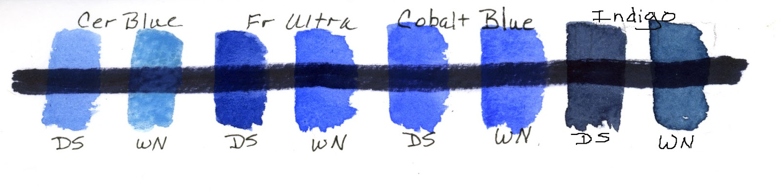 sbwatercolors and sketching daniel smith vs w newton blues. Black Bedroom Furniture Sets. Home Design Ideas
