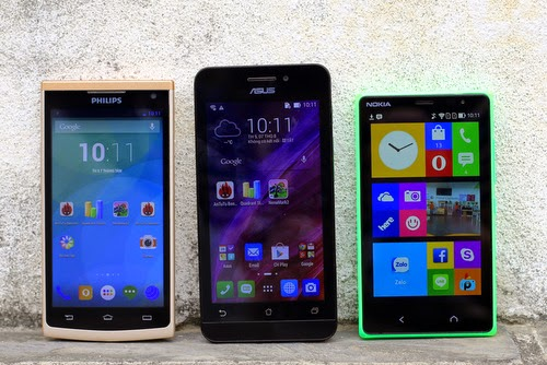 Comparison Three Cheap Android Phone Asus, Nokia And Philips